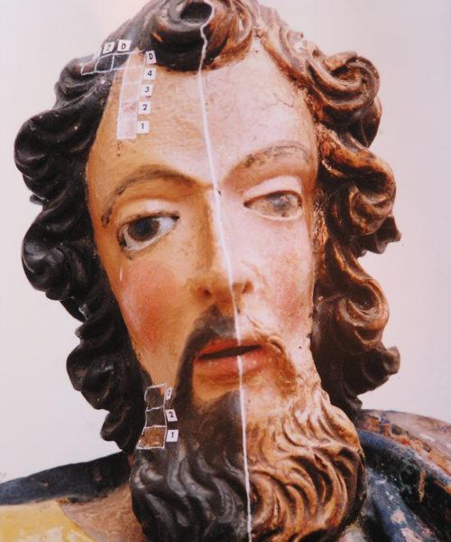 St. Luke, Restoration Detail