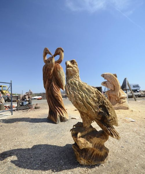 chainsaw carving eagle